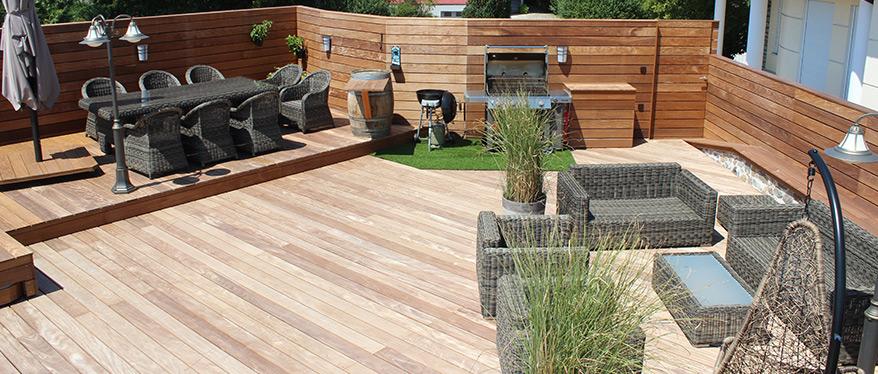 Amerikanische Terrasse terrasse mit liebe zum detail